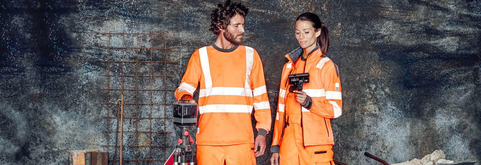 Orange für den Bau & öffentlichen Dienst