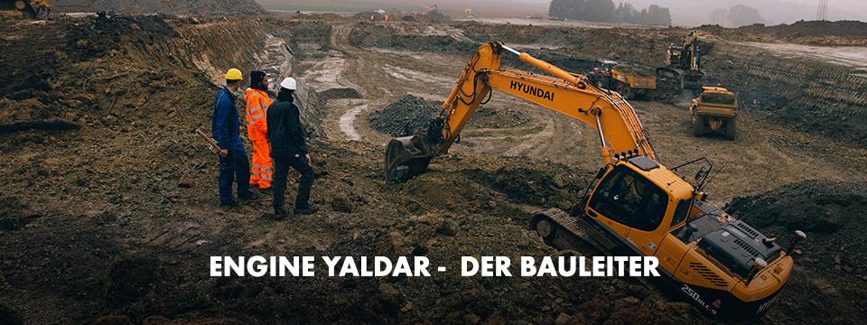 Engin Yaldar, der Bauleiter auf der Baustelle, und seinem Team mit Würth MODYF Arbeitskleidung: die Premium, die One und die Warnschutz Kollektion