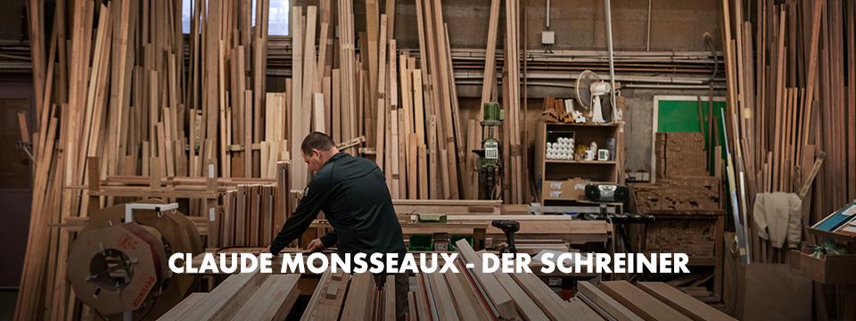 Der flexible und weiche Stretch X Fleecetroyer in Anthrazit ist für ihn der passende Arbeits-Begleiter in seiner Schreinerei-Werkstatt.