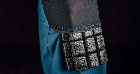 Integrierter Knieschutz für Ihre Arbeitshosen