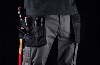 Arbeitshose mit zusätzlichen & praktischen Taschen für mehr Stauraum im Detail