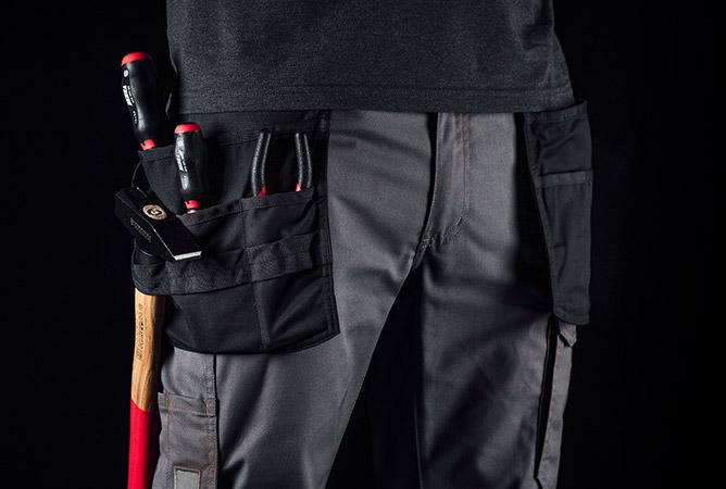 Arbeitshose mit zusätzlichen & praktischen Taschen für mehr Stauraum in Zoomansicht