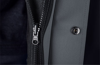 Kuschelige Fleecejacken im Detail, einzippbar in alle Regenjacken aus der Cetus Kollektion
