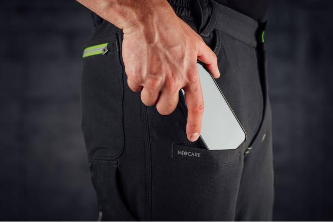 Praktische Bundhose mir e-care Handytasche gegen Strahlung