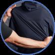 4-Wege Stretchmaterial für volle Bewegungsfreiheit bei der Arbeit