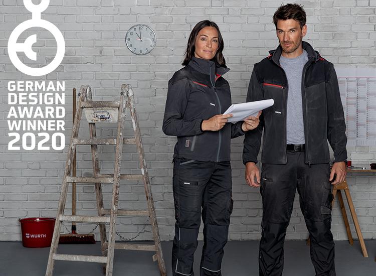 Die stylische Arbeitskleidung der Stretch X Kollektion hat den German Design Award 2020 gewonnen