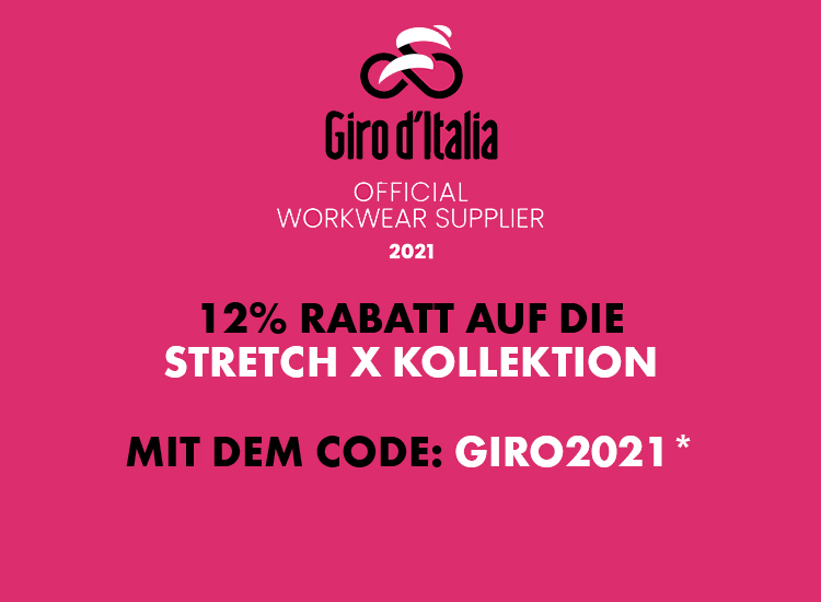 Sparen Sie jetzt auf die gesamte Stretch X Arbeitsbekleidung und geben Sie den Rabattcode einfach weiter