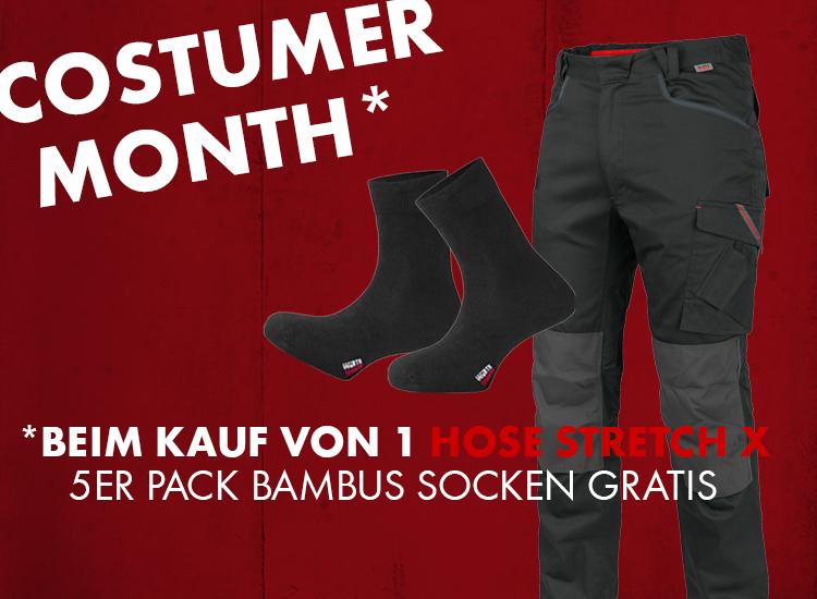 Jetzt 5er Pack Bambus Socken gratis erhalten beim Kauf einer Stretch X Bundhose