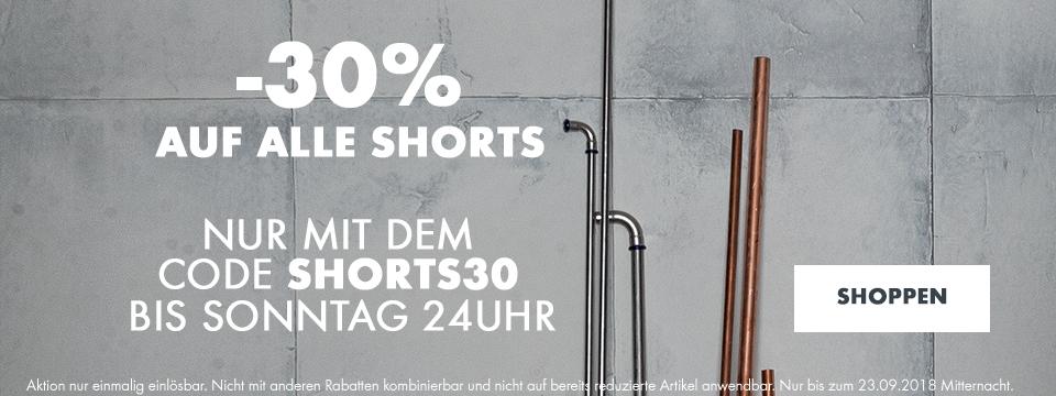 30% auf alle Shorts