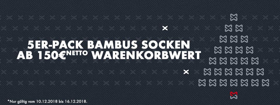 Adventsaktion: 5er Pack Bambus Socken geschenkt ab 150€ Warenkorbwert