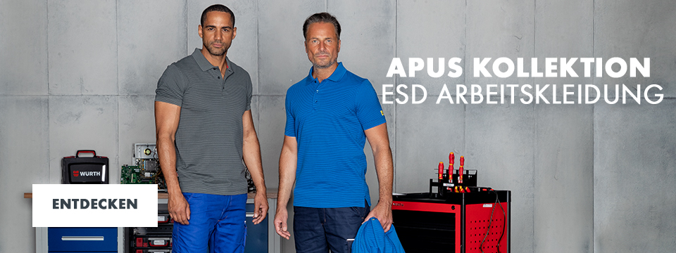 ESD zertifizierte Arbeitskleidung Apus Kollektion