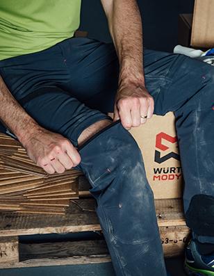 Blaue Zip-Off Arbeitshose in Anthrait, die in eine Shorts verwandelt werden kann