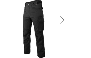 Stylische Bundhose in Schwarz mit einsetzbaren & zertifizierten Kniekissen EN14404.