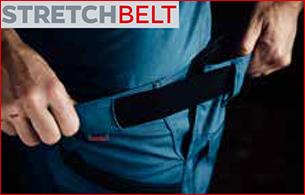 Stretchbelt Technologie elastische Einsätze für Bewegungsfreiheit sowie idealen Halt