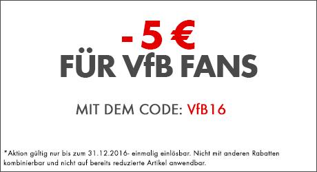 - 5 € für die vfb Fans sofort profitieren