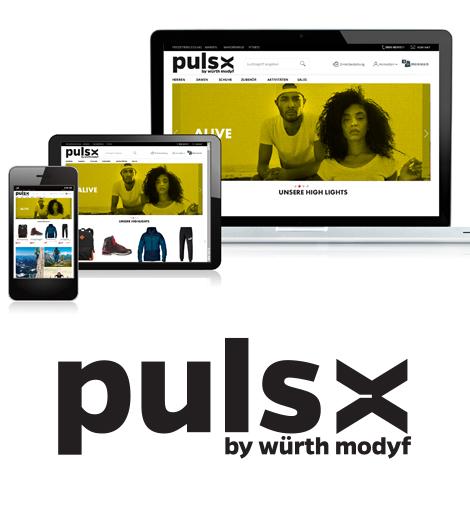 Puls-x :Outdoor und Freizeitbekleidung Webseite